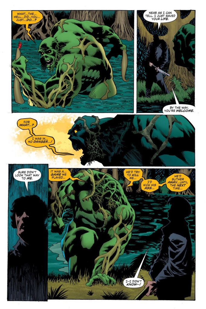 Swamp Thing and Matt Cable meet once again