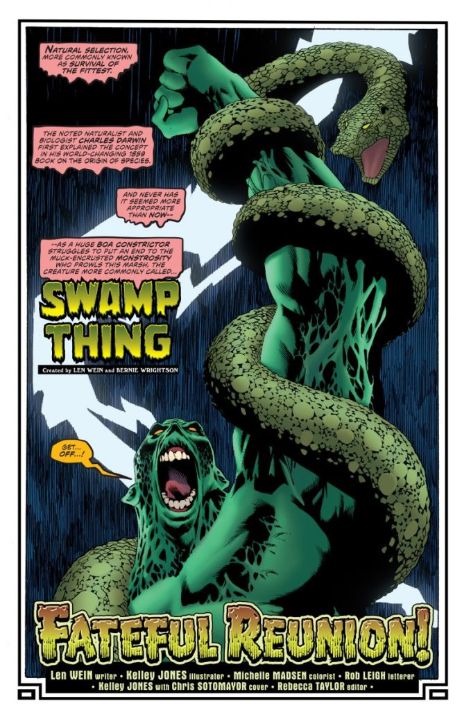 Swamp Thing vs. Boa Constrictor