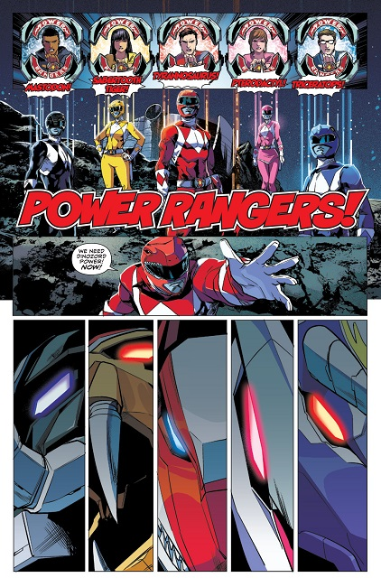 Mighty Morphin Power Rangers 4 Interior Art