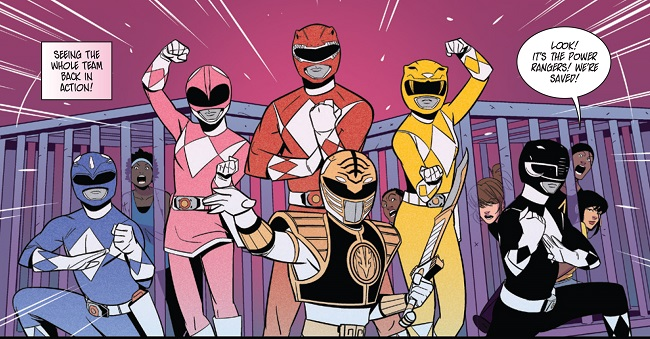 MMPR: Pink #3 interior art detail