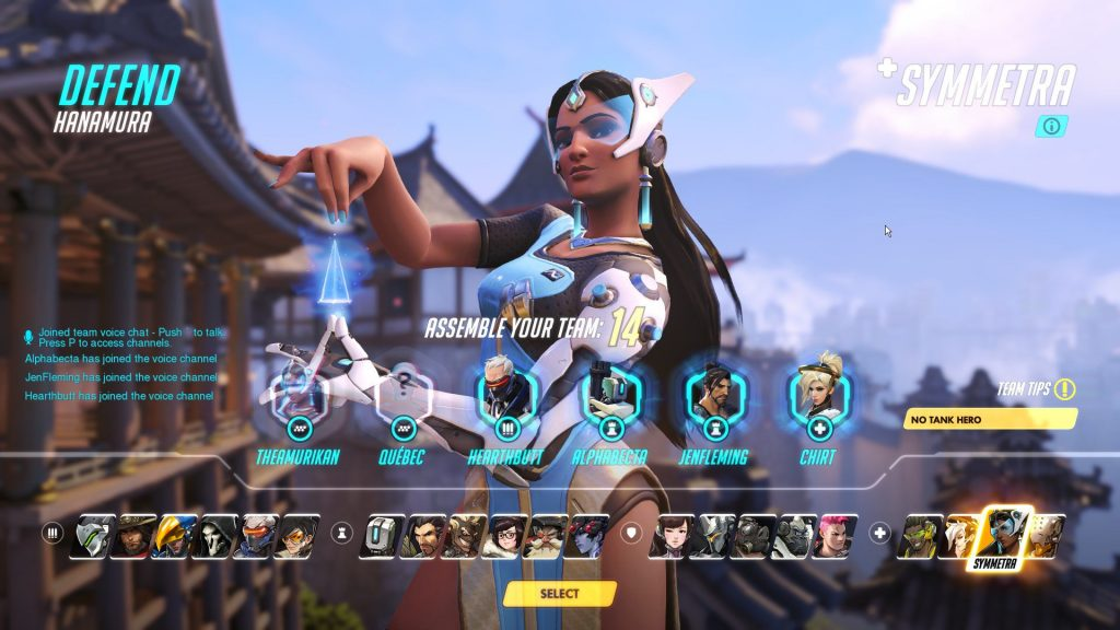 Overwatch Character Select No Tank Warning