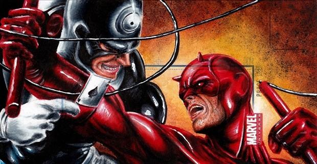 Bullseye battling Daredevil