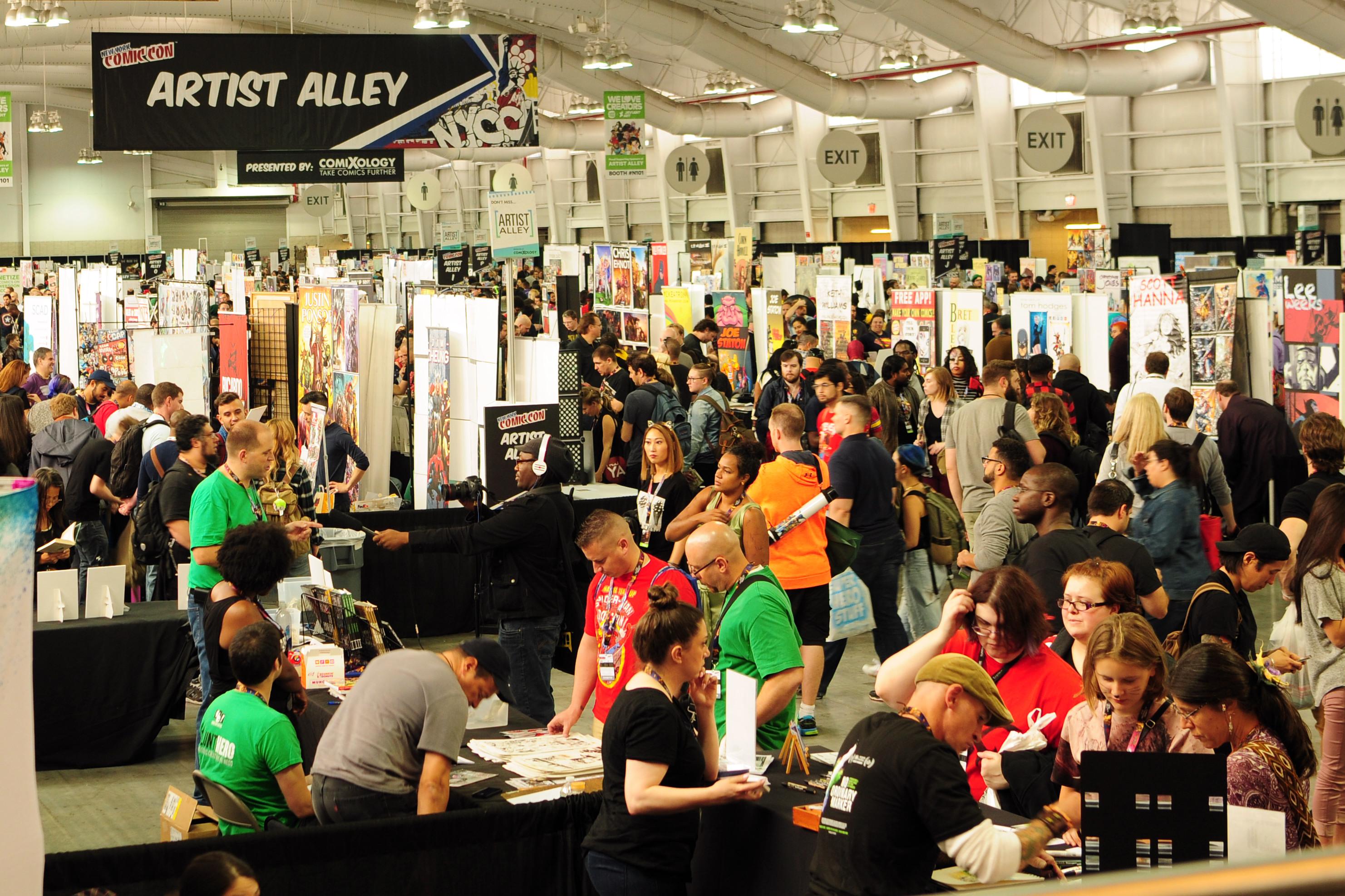 NYCC New York Comic Con Artist Alley