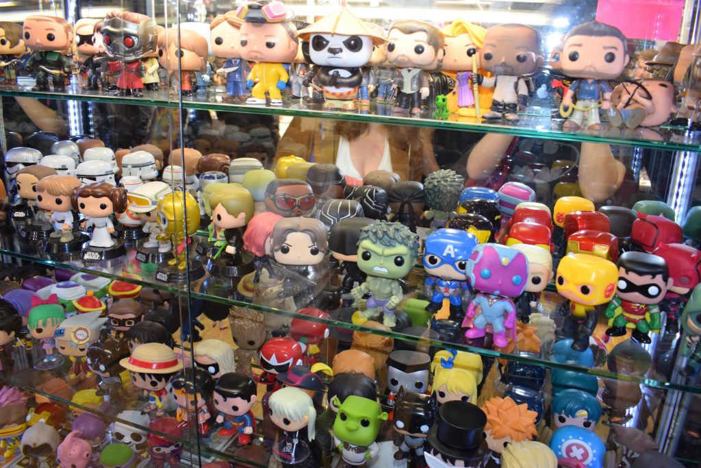 Funkos at Paris Comic Con. Credit : Elodie Cure