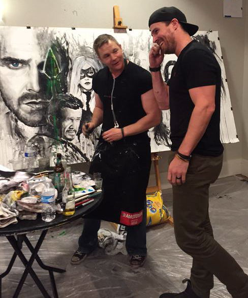 Rob Prior Artist Comic Convention Heroes and Villains Fan Fest Arrow Stephen Amell