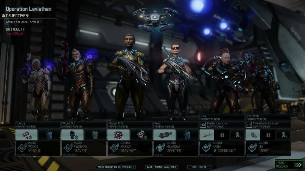 XCOM 2 squad lineup