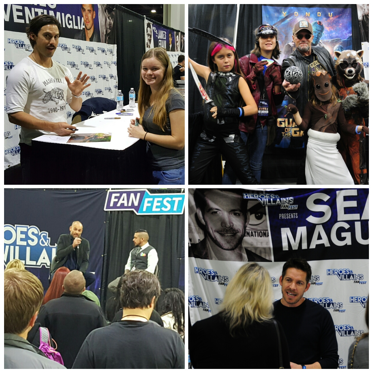 Heroes and Villains Fan Fest HVFF Milo Ventimiglia, Michael Rooker, Sean McGuire, Paul Blackthorne This is Us Guardians of the Galaxy The Walking Dead Onnce Upon a Time Arrow