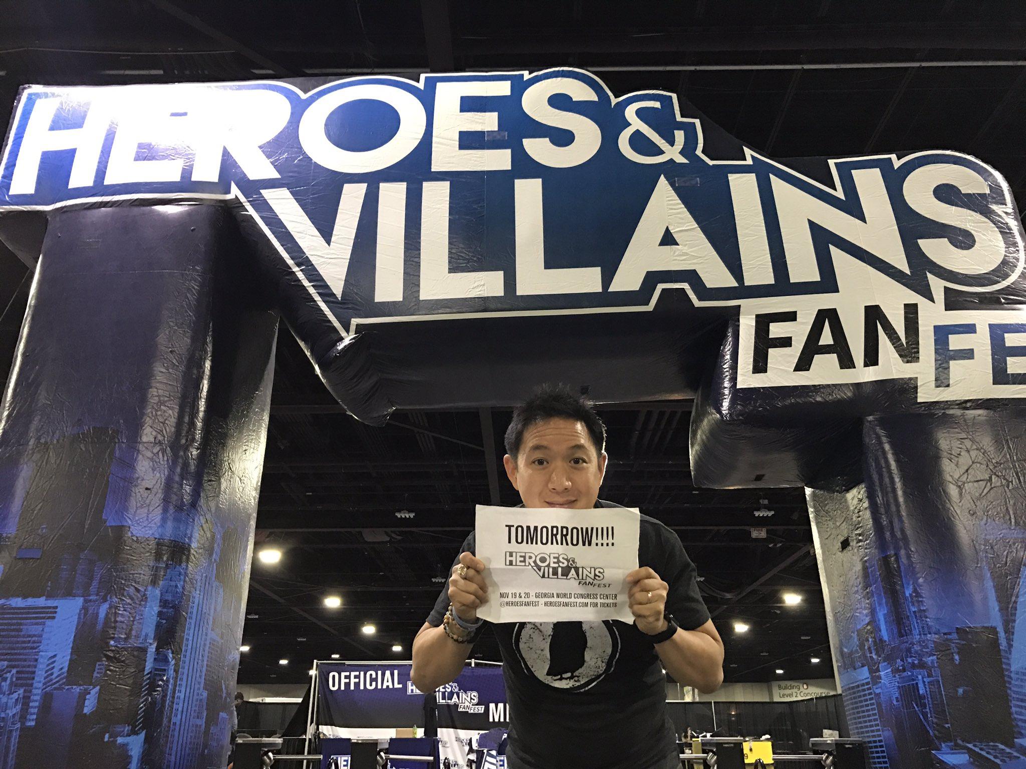 Ming Chen Comic Book Men Heroes and Villains Fan Fest HVFF