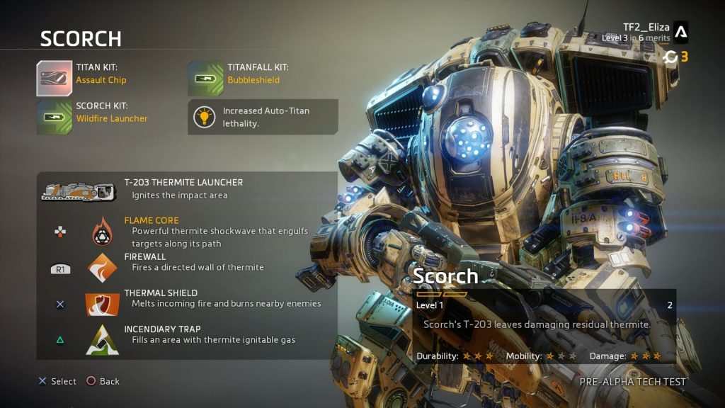 The Scorch Titans are tough and set everything on fire. Satisfying. Credit: Respawn Entertainment.