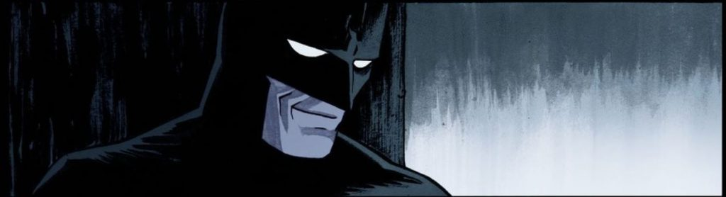 The rarely seen Bat-smile. Courtesy DC Comics.