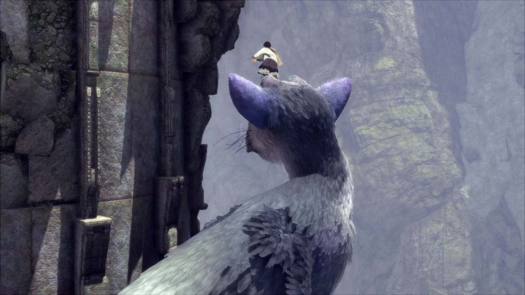 The Last Guardian perching on Tricos head