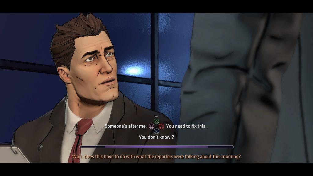 Batman Telltale Chatting with Harvey