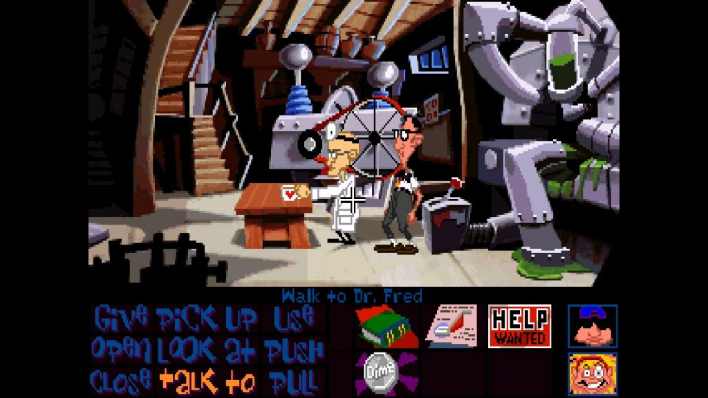Day of the Tentacle Remastered original graphics in basement