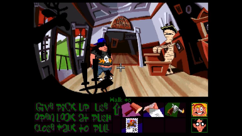 Day of the Tentacle Remastered original graphics with Hogie