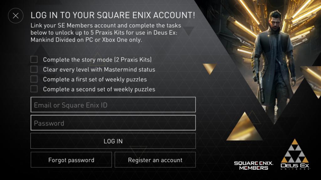 Deus Ex Go Game Crossover