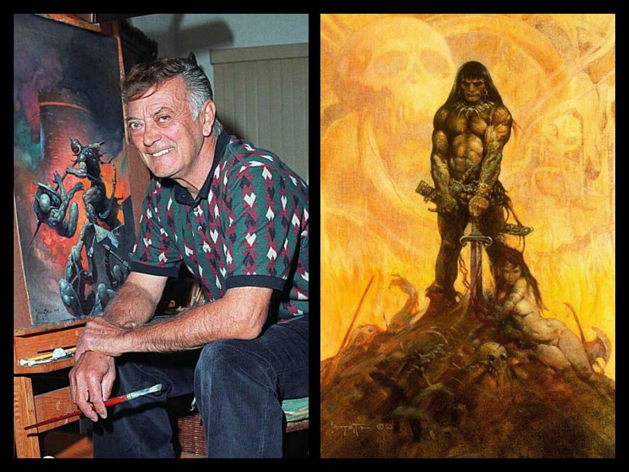 Frank Frazetta Conan Artwork
