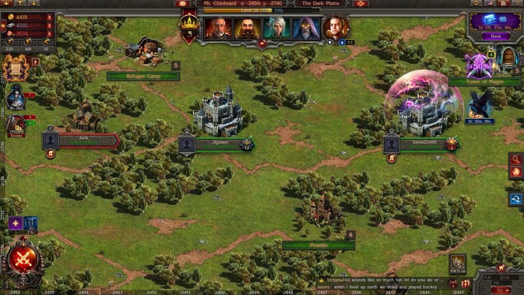Stormfall map screen