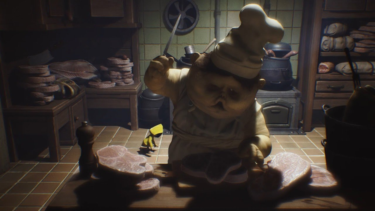 Little Nightmares hiding from chef monster