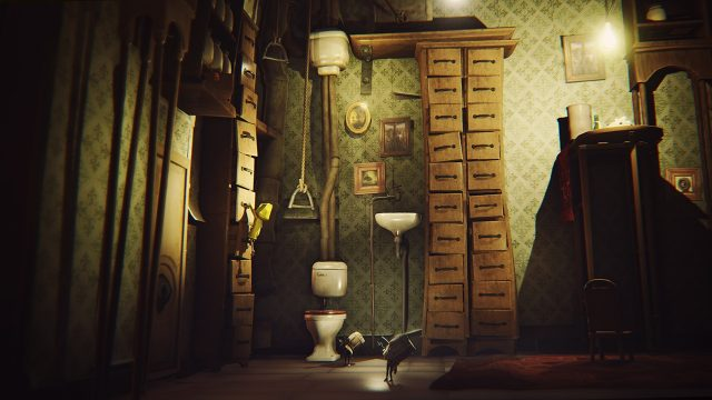 Little Nightmares climbing bedroom drawers