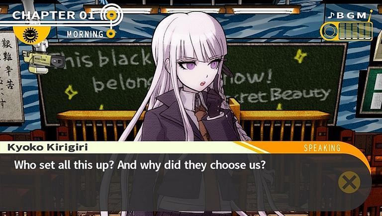 Danganronpa chat student why Kyoko
