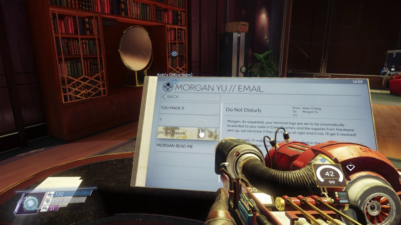 Reading emails in Prey