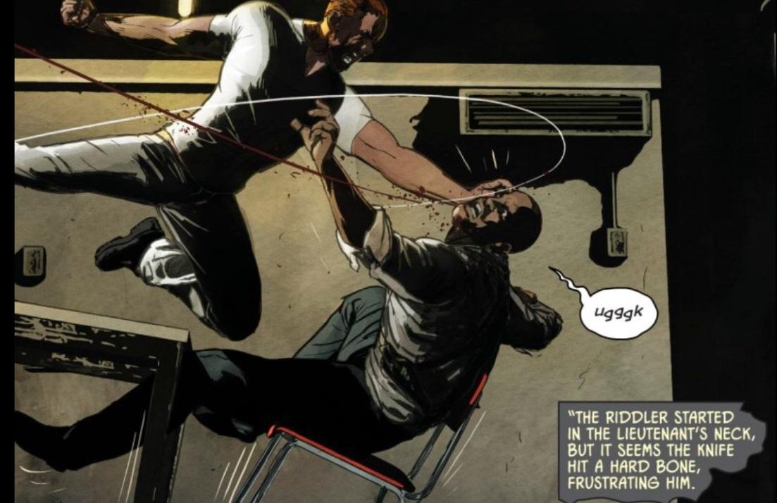 More Violent Riddler? Courtesy of DC Comics