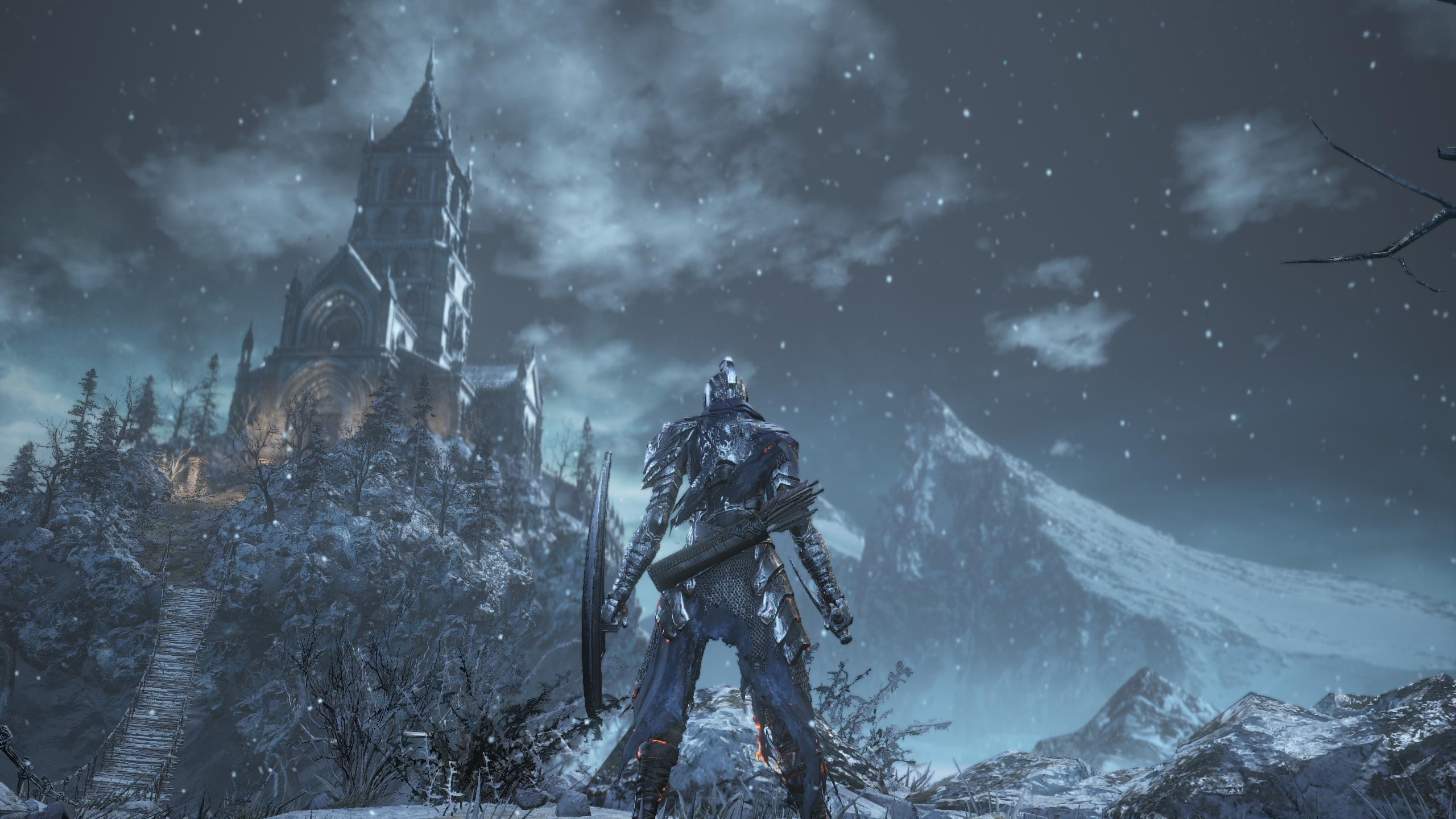 Dark Souls 3 Ashes of Ariandel DLC snow view