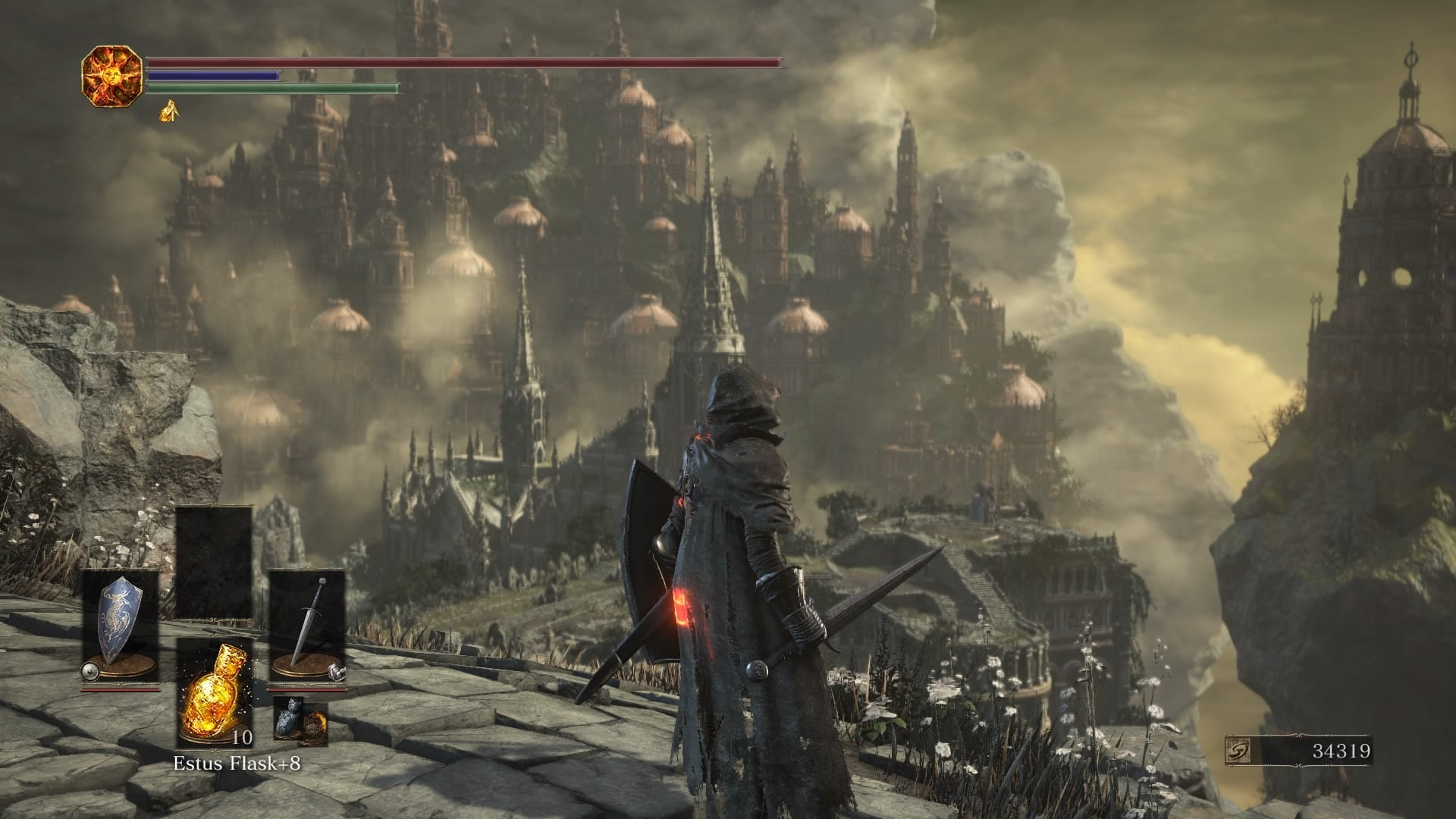 Dark Souls 3 The Ringed City DLC view vista