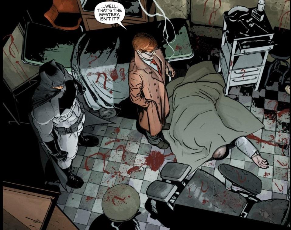 Riddler murder scene. Courtesy of DC Comics