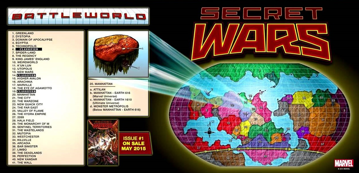 Secret Wars Map