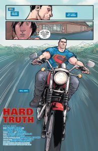 Superman-on-motorcyle