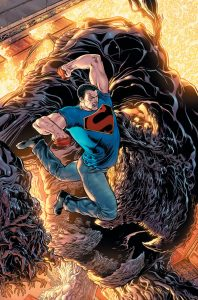 Superman and Shawdow Monster