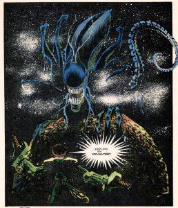 From Alien: Earth War, written by Mark Verheiden, art by Sam Keith, 1990.