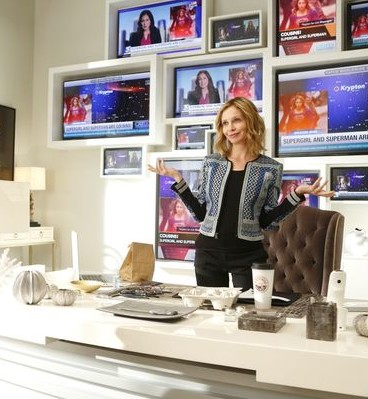 Calista Flockhart as Cat Grant in CBSs new show, Supergirl.