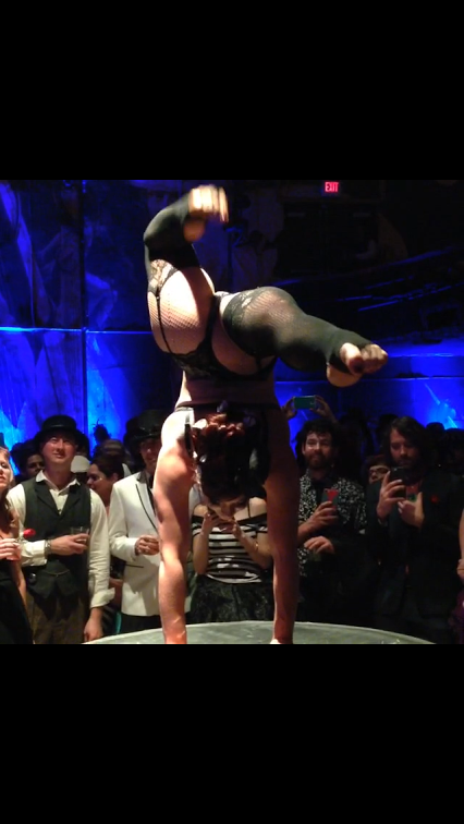 Edwardian Ball sensual acrobatics