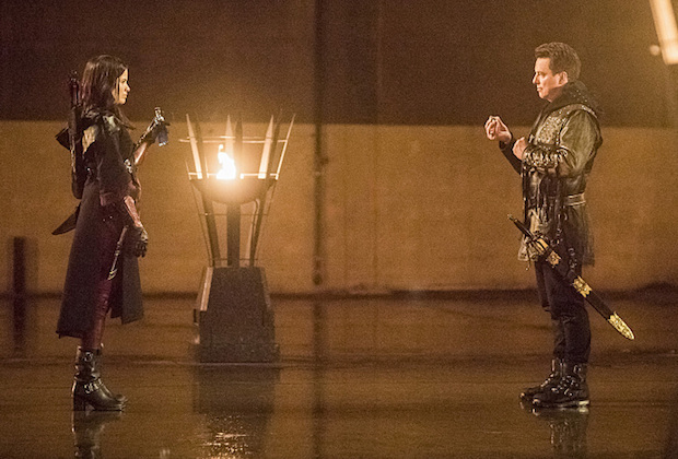 Arrow Season 4, Malcolm Merlyn and Nyssa al Ghoul