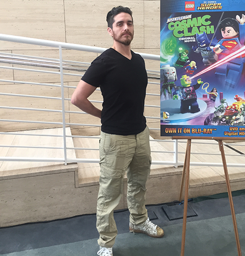 Josh Keaton at the LEGO DC Comics Super Heroes premiere