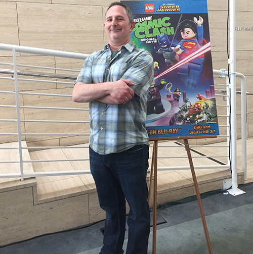 Andy Milder at the LEGO DC Comics Super Heroes premiere