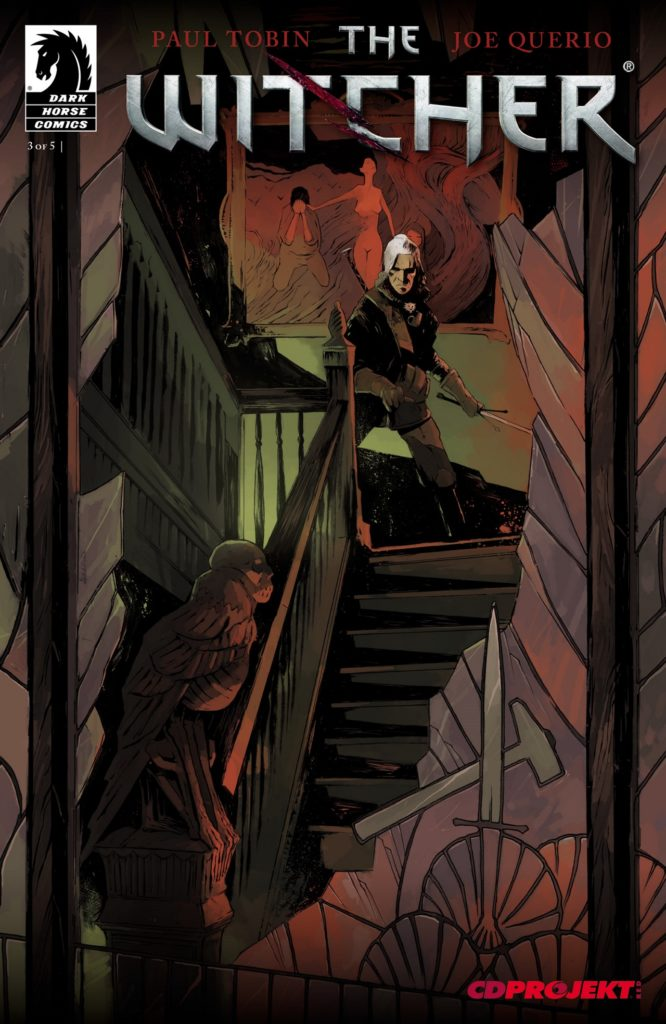 The latest series of Witcher comics are by published by Dark Horse and based on the Witcher games. Credit: Dark Horse.