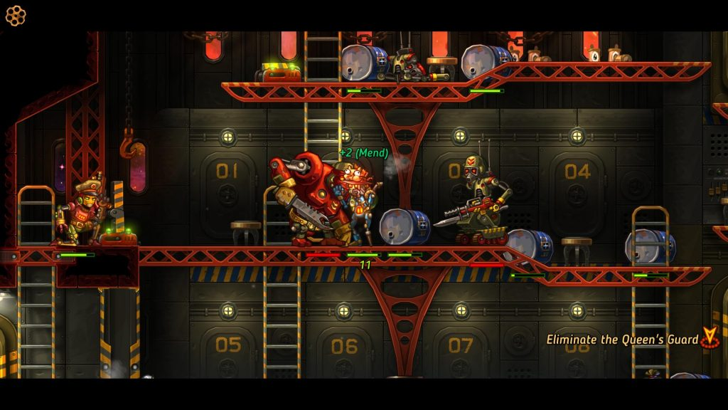 Steamworld Heist Queens Guard level