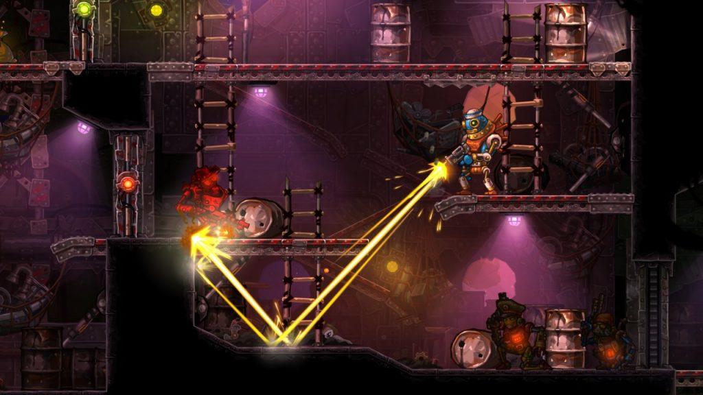 Steamworld Heist bullet ricochet