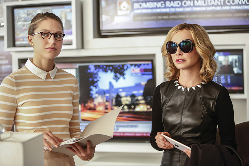 Unfortunately we'll be seeing less of Calista Flockhart's Cat Grant this season. Credit - Bettina Strauss/The CW.