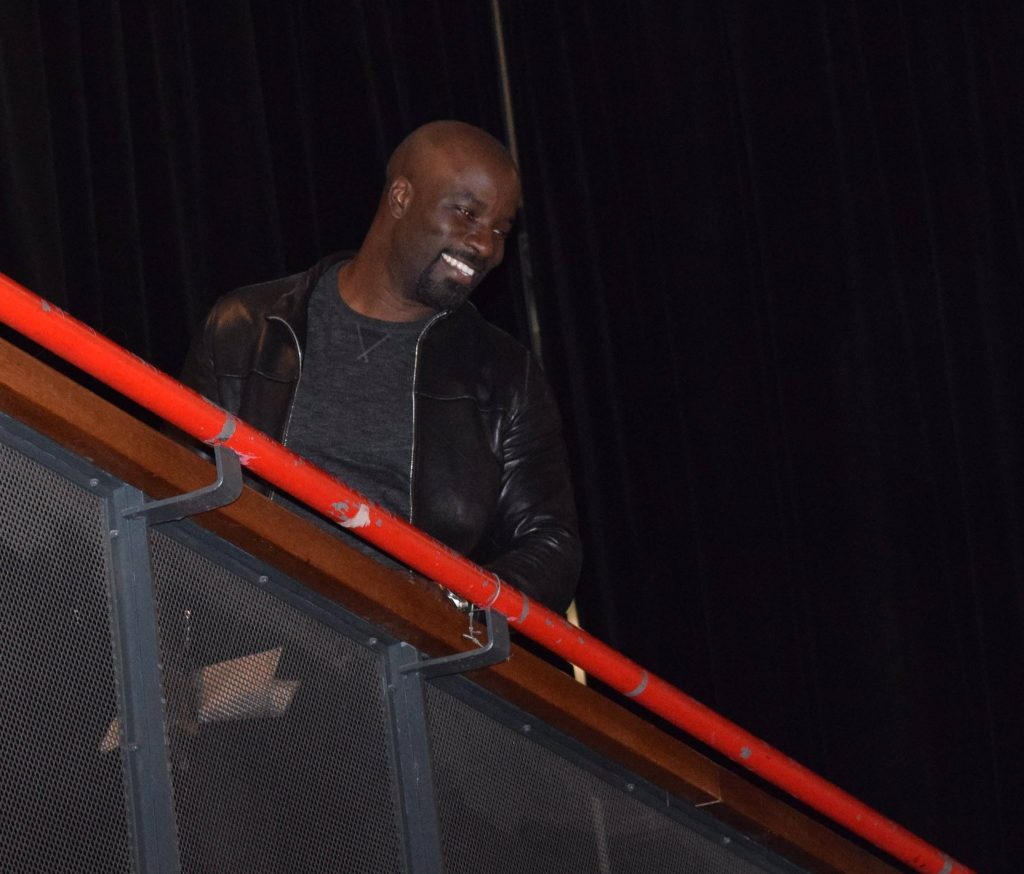 Mike Colter aka Luke Cage at Paris Comic Con. Credit : Elodie Cure