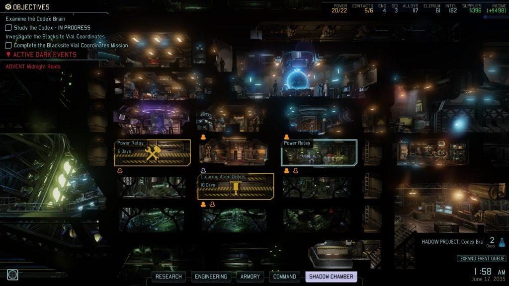 XCOM 2 Avenger base managment