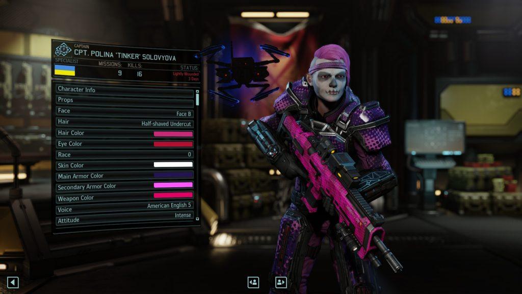 XCOM 2 character customisation
