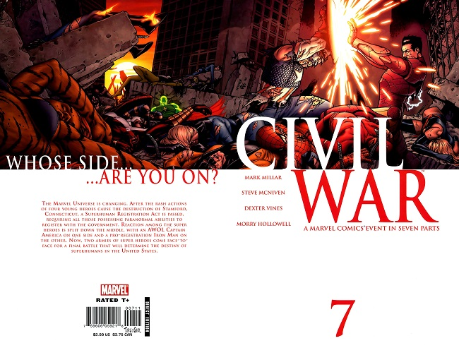 Civil War #7 cover