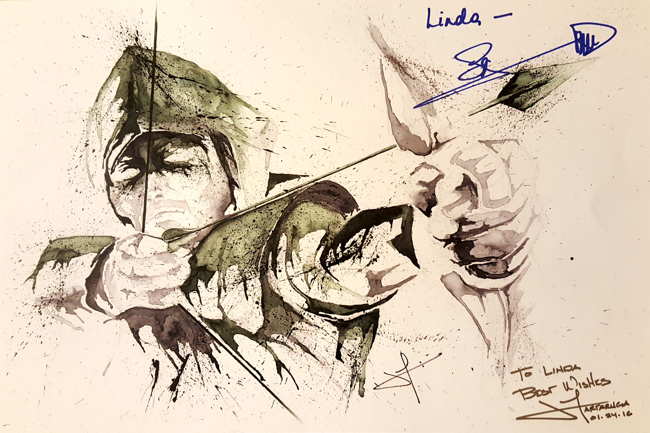 Heroes and Villains Fan Fest HVFF Arrow Stephen Amell Artwork JaCo Tartaruga