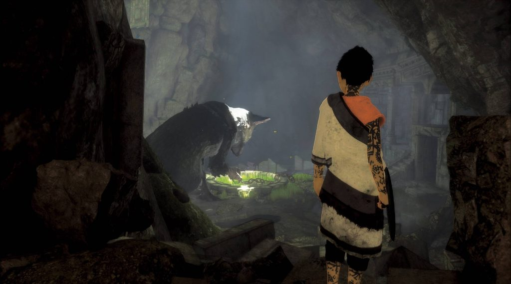 The Last Guardian Trico in cave