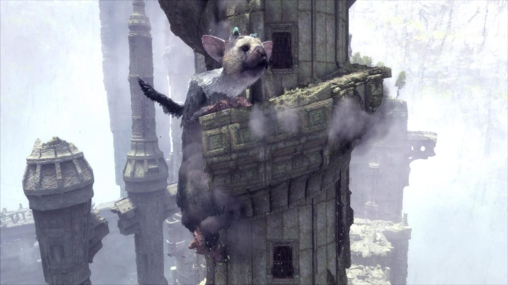 The Last Guardian Trico nearly falls