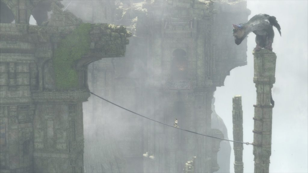 The Last Guardian tightrope walking
